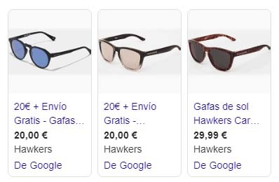 campaña google shopping ads