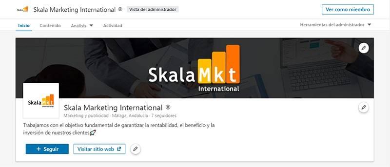 crear perfil empresa linkedin