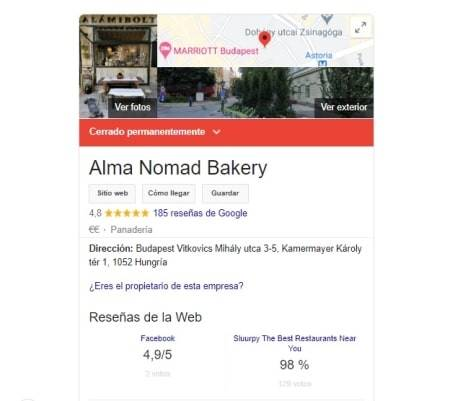 cuenta de Google my businesscerrada permanentemente