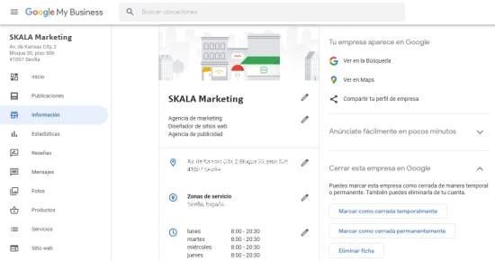 cuenta de google my business